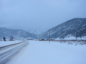 Photo: Looking northbound on Highway 191 south of Big Sky