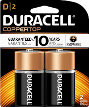 Duracell D Alkaline Batteries - 2 Pack