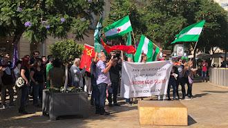 Concentración en Puerta Purchena en favor de los presos del \'procés\'.