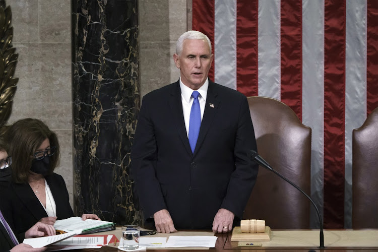 A lot of the power as to whether Donald Trump is removed from office lies with US vice-president Mike Pence. Picture: AP/BLOOMBERG/J SCOTT APPLEWHITE
