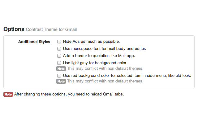 Contrast Theme for Gmail™