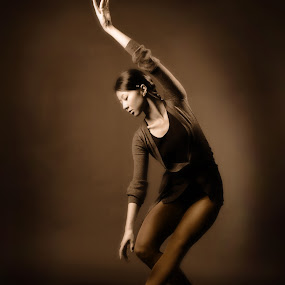 Ballerina by Irina Popova - People Fine Art ( pose, sepia, ballet, people, dance, portrait )