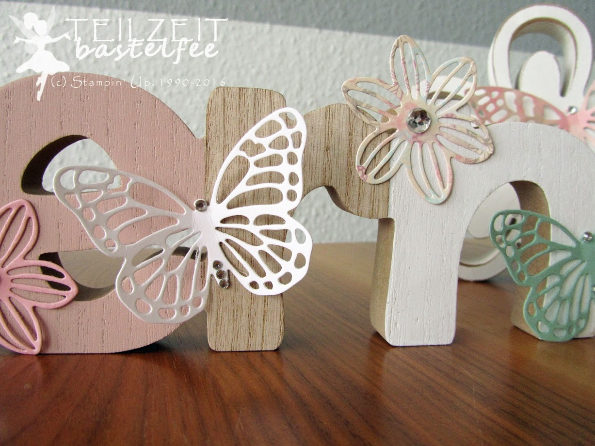 Stampin' Up! - Easter, Ostern, Decoration, Thinlits Schmetterlinge, Butterflies, Framelits Maiblüten, decoration