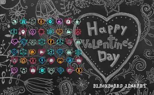 Blackboard Line Art Theme