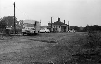 Photo: Charlbury station from the yard (June 1972)