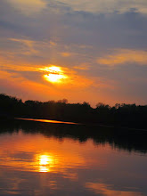 Photo: Sunset over a lake at Eastwood Park in Dayton, Ohio.