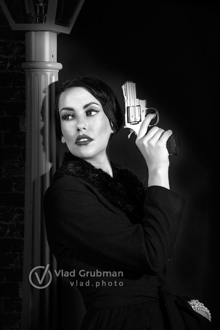 Film Noir inspired character - photography by Vlad Grubman / Zealusmedia.com