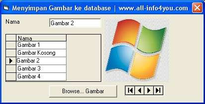 Menyimpan gambar foto ke database visual basic