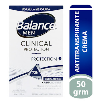 Desodorante Balance   Clinical Crema Protección Men X50g