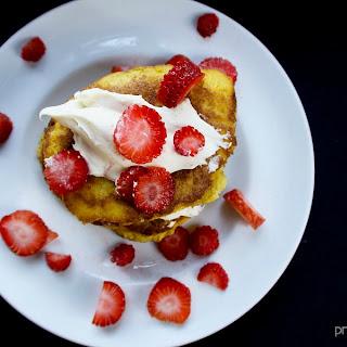 Ketogenic Strawberry Shortcake Pancakes Recipe