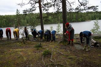 Photo: Rovaniemen aamujumppa. Pukki ei enää taivu!