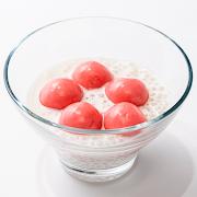 Coconut Cream & Warm Strawberry Custard Mochi
