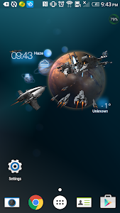 3D Space Fighting Clock Widget screenshot 1