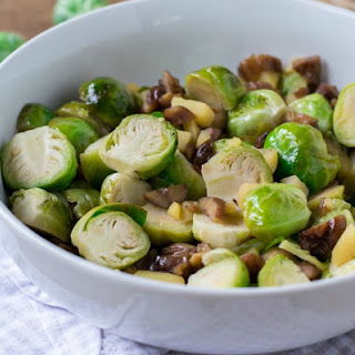 Braised Brussels Sprouts with Apples and Chestnuts