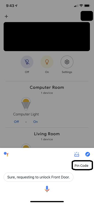 Google Unlock UI