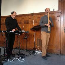 Photo: Improvisation shakuhachi and electronics Horacio Curti and Jim Franklin