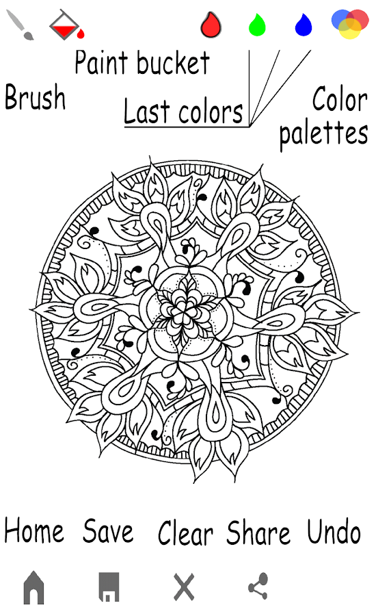 mandala coloring book for adults screenshot - Adults Coloring Books