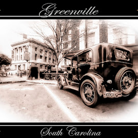 Greenville, SC by Steven Faucette - Typography Captioned Photos ( greenville, post card, antique, south carolina, city )