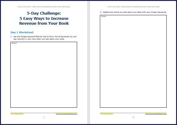 Promote & Market Your Business Book - Challenge Worksheet 1