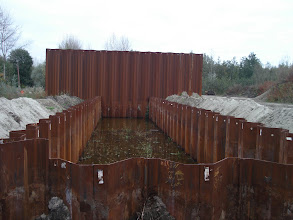 Photo: Bouw sluis Bazel 27.10.09