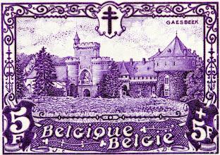 """Photo: """"Les châteaux"""" (1-12-1930). Gaasbeek."""