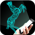 Hologram horse simulator icon