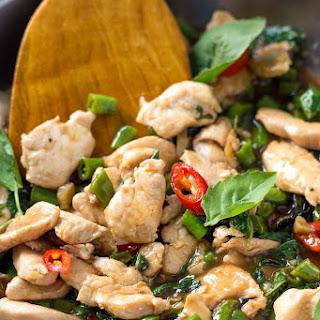 Thai Basil Chicken Stir Fry - Pad Krapao Gai.