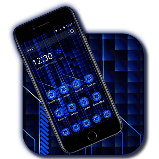 High Blue Tech Theme Android APK Download Free By Backgrounds And Anime Launcher
