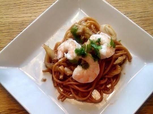Teriyaki Shrimp Noodle Bowl Recipe