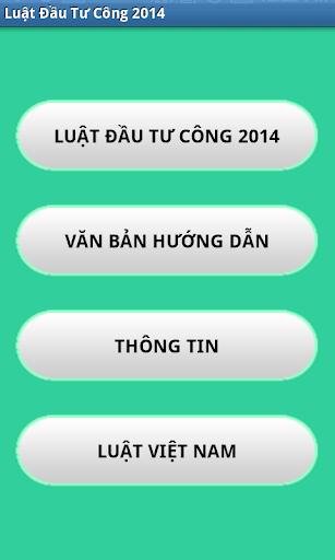Luat Dau tu cong Viet Nam 2014