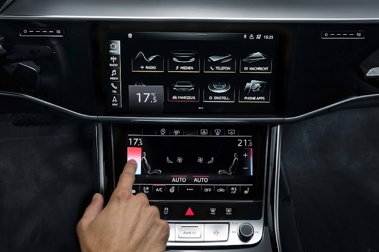 The new touchscreens are some of the best in the business.    Picture: AUDI