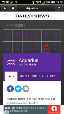 Newspaper Daily Horoscopes - screenshot