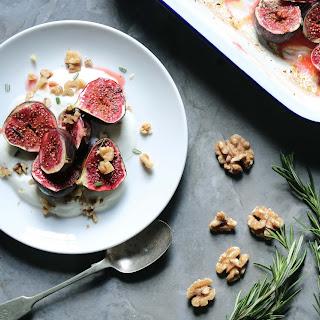 Roasted Figs with Honey & Yogurt.