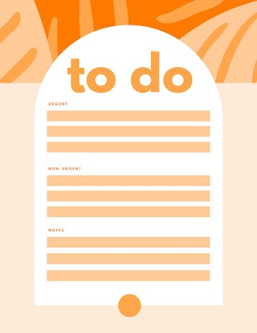 Urgent To Do - Planner template