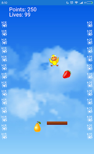 Bird pick fruit - náhled