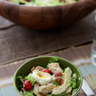 Avocado and Panko-Crusted Chicken Cobb Salad