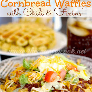 Cornbread Waffles with Chili & Fixins'.