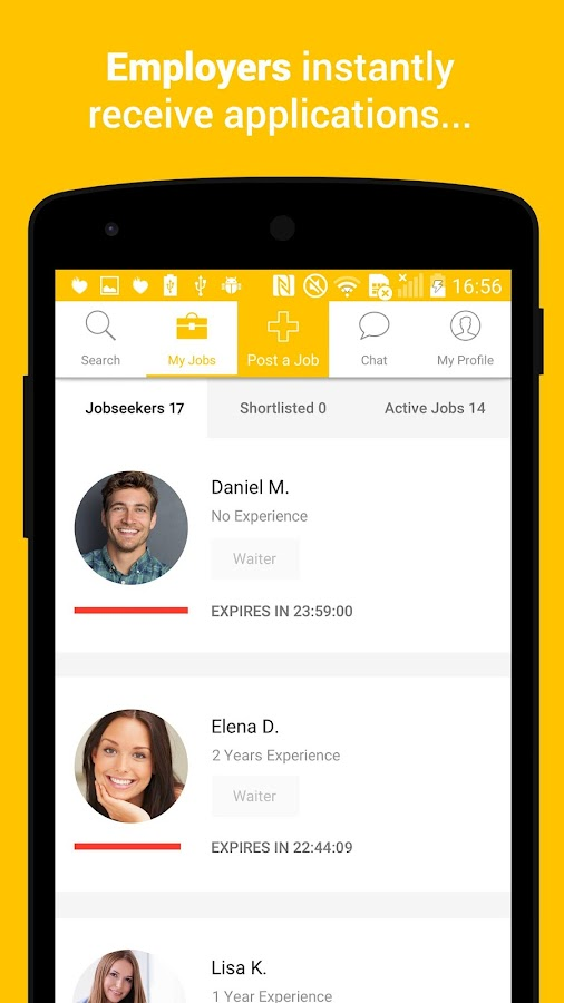 Jobfox - the place for side & part-time jobs- screenshot