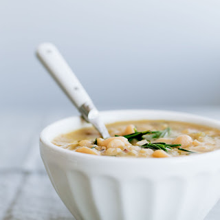 Slow Cooker Cannellini Bean Soup with Fresh Rosemary.