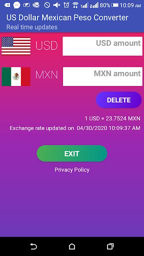 Us Dollar Mexican Peso