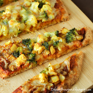 Curried Veggie Pizza.