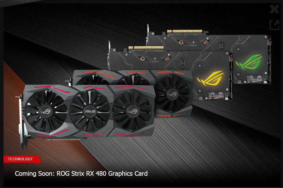 Asus công bố chiếc card đồ họa ROG Strix RX 480 mới sử dụng kiến trúc đồ họa Polaris của AMD