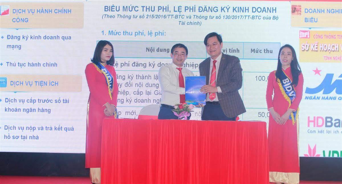 Khai trương Cổng thông tin hỗ trợ doanh nghiệp tỉnh Nghệ An