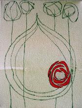 Photo: in progress Rose Horizon II 7.5.2010, 8x10 acrylic on canvas