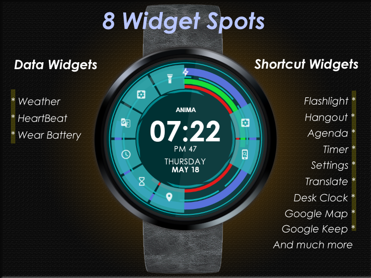 Anima Watch Face Pro - Wear 1.0 + Higher- screenshot