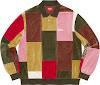 patchwork velour l/s polo
