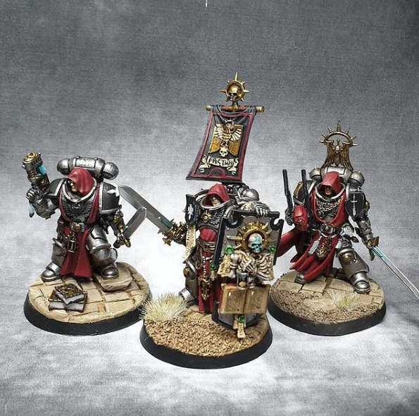 Guardians of the Covenant Spacemarines painted by Heather Armstead