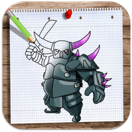 How to Draw and Colour Clash Of Clans