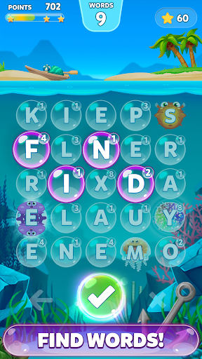 Bubble Words - Letter Search Screenshot
