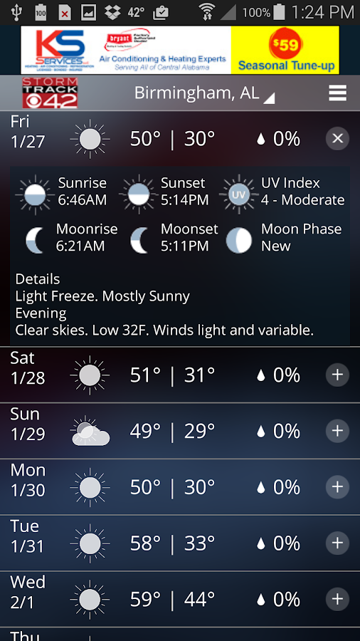 WIAT Weather- screenshot